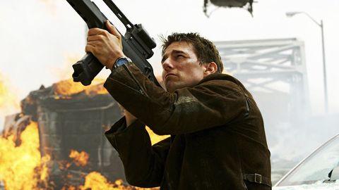 Gun, Firearm, Shooting, Jacket, Shotgun, Air gun, Shooting sport, Fire, Gunfighter, Trigger,
