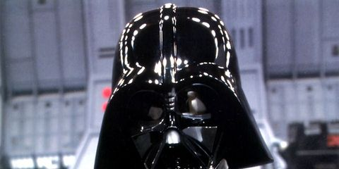 Darth vader, Mask, Fictional character, Supervillain, Personal protective equipment, Headgear, Costume, Black, Fiction, Costume accessory,