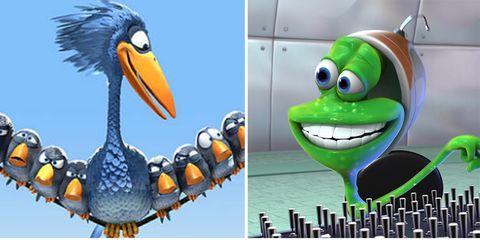 Vertebrate, Animation, Toy, Bird, Fictional character, Beak, Baby toys, Animated cartoon, Animal figure, Graphics,