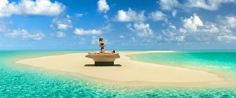 Sky, Sea, Vacation, Caribbean, Water, Natural landscape, Ocean, Tropics, Azure, Aqua,