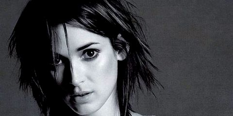 Lip, Hairstyle, Sleeve, Shoulder, Eyebrow, White, Jewellery, Monochrome photography, Black hair, Style,