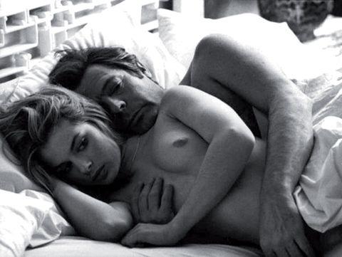 Comfort, Sleep, Chest, Nap, Black hair, Trunk, Linens, Love, Bed, Barechested,