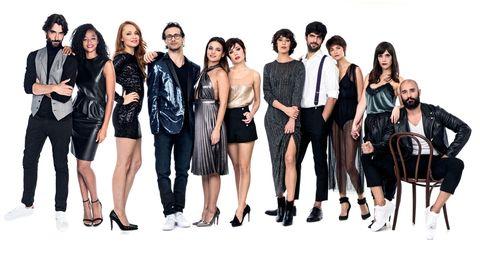 Clothing, Footwear, Leg, Trousers, Style, Fashion model, Dress, Black hair, Waist, Fashion,