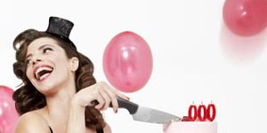 Mouth, Balloon, Pink, Party supply, Undergarment, Thigh, Waist, Abdomen, Trunk, Lingerie,