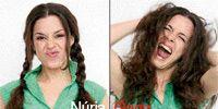 Hair, Nose, Lip, Cheek, People, Fun, Hairstyle, Skin, Chin, Green,