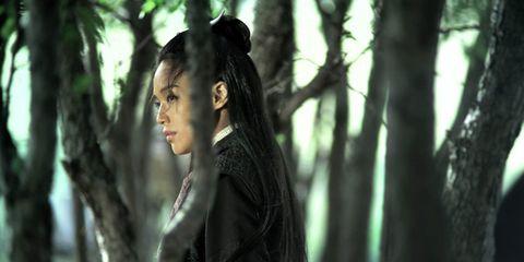Black hair, Beauty, Long hair, Fashion model, Portrait photography, Model, Photo shoot, Woodland, Portrait, Old-growth forest,