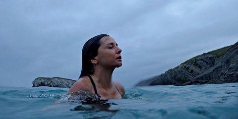 Water, Beauty, Sea, Vacation, Summer, Fun, Ocean, Leisure, Recreation, Black hair,