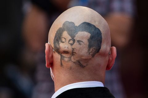 Ear, Cheek, Hairstyle, Forehead, Temple, Neck, Eyelash, Facial hair, Wrinkle,