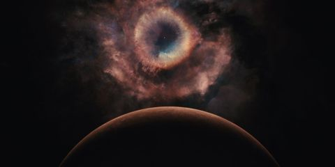 Brown, Atmosphere, Colorfulness, Iris, Darkness, Celestial event, Space, Astronomical object, Photography, Astronomy,