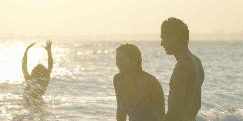 People in nature, Photograph, Sky, Atmospheric phenomenon, People on beach, Beach, Sea, Sunlight, Morning, Fun,