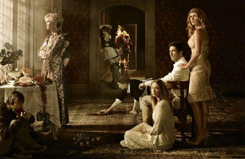 Human, Human body, Dress, Scene, Drama, Vintage clothing, Acting, One-piece garment, heater, Painting,