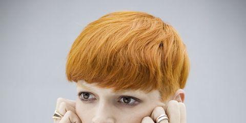 Lip, Finger, Hairstyle, Skin, Chin, Forehead, Shoulder, Eyelash, Eyebrow, Joint,