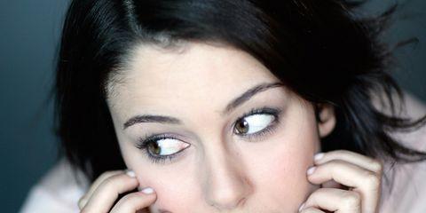 Finger, Lip, Cheek, Eye, Hairstyle, Skin, Chin, Forehead, Eyelash, Shoulder,