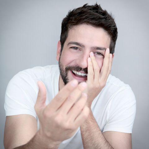 Finger, Lip, Cheek, Skin, Chin, Forehead, Facial hair, Shoulder, Eyebrow, Wrist,