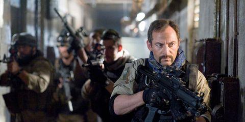 Soldier, Gun, Military person, Firearm, Military uniform, Assault rifle, Machine gun, Shooting, Ballistic vest, Air gun,