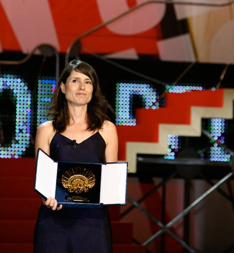 Dress, Waist, Award, Award ceremony, Cobalt blue, Long hair, Necklace, Hair accessory, Cocktail dress, Headpiece,