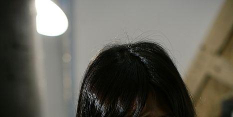 Lip, Mouth, Hairstyle, Chin, Shoulder, Eyebrow, Photograph, Bangs, Black hair, Jaw,