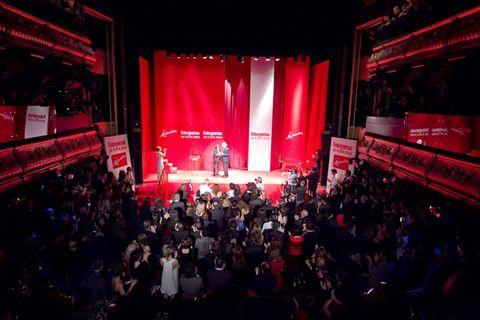 People, Crowd, Stage equipment, Audience, Stage, Music venue, Public event, Theatre, Concert, Auditorium,