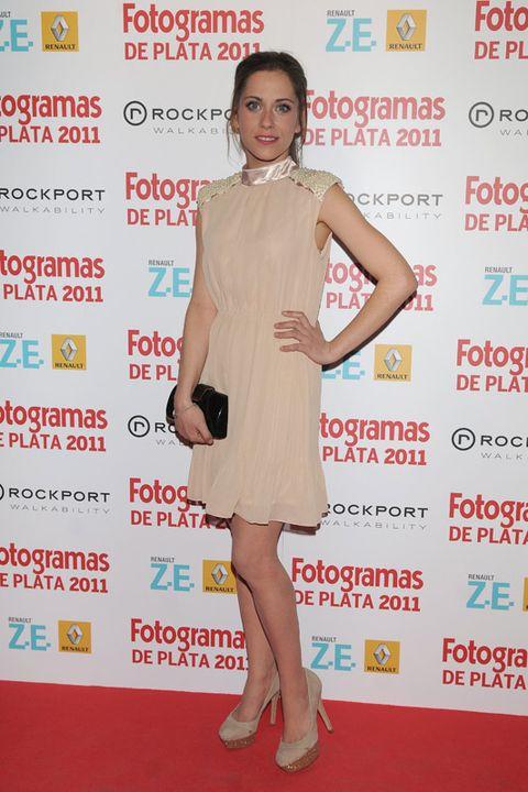Dress, Flooring, Shoe, Shoulder, Premiere, Joint, Red, Carpet, Style, One-piece garment,