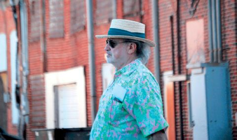 Hat, Street fashion, Facial hair, Sun hat, Teal, Fedora, Costume hat, Beard, Moustache,
