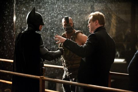 Interaction, Gesture, Fictional character, Official, Batman, Tuxedo, Fence, Acting,