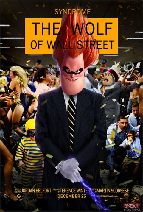 Dress shirt, Tie, Crowd, Animation, Poster, Costume accessory, Photo caption, Costume, Red hair, Advertising,