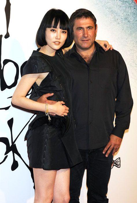 Shirt, Dress, Black hair, Little black dress, Black, Bangs, Thigh, Cocktail dress, Waist, Day dress,