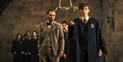 Dumbledore joven en Animales Fantasticos