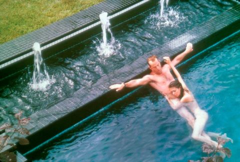 Fluid, Water, Leisure, Summer, Barechested, Muscle, Swimwear, Swimming pool, Water feature, Underpants,