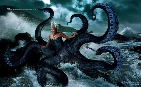 Cg artwork, Art, Animation, Fictional character, Mythical creature, Illustration, Long hair, Marine invertebrates, Graphics, Painting,