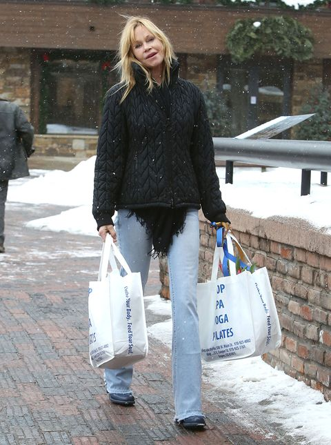 Clothing, Footwear, Leg, Trousers, Textile, Winter, Outerwear, Bag, Style, Street fashion,