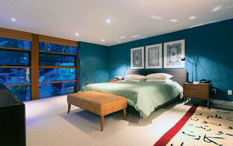 Bed, Room, Lighting, Interior design, Floor, Bedding, Property, Wall, Bedroom, Textile,
