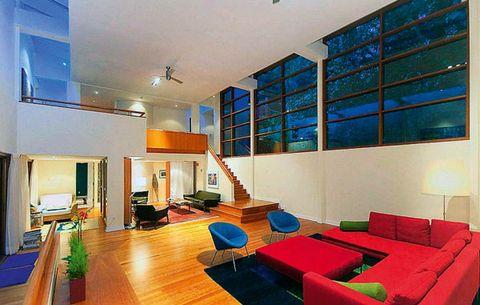 Interior design, Room, Floor, Flooring, Ceiling, Furniture, Wall, Interior design, Wood flooring, Couch,