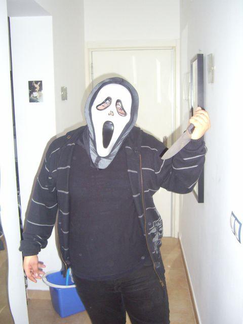 Mask, Cool, Costume, Door, Paint, Glove, Home door, Humour, Fearful, Fictional character,