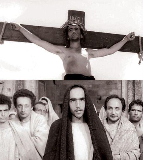 Face, Head, Nose, People, Crucifix, Wrist, Cross, Symbol, Chest, Facial hair,