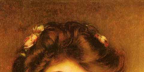 Lip, Hairstyle, Chin, Style, Art, Beauty, Self-portrait, Paint, Artwork, Portrait,