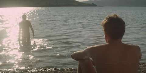 Human, Water, Standing, People in nature, Summer, Back, Vacation, Muscle, Barechested, Holiday,