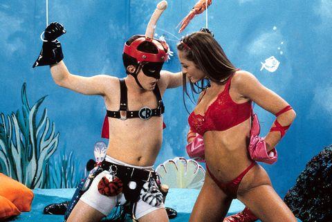 Fun, Brassiere, Undergarment, Personal protective equipment, Thigh, Swimsuit top, Abdomen, Chest, Bikini, Trunk,