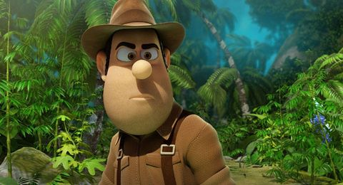 Organism, Animation, Hat, Fictional character, Animated cartoon, Terrestrial plant, Cartoon, Jungle, Toy, Fedora,