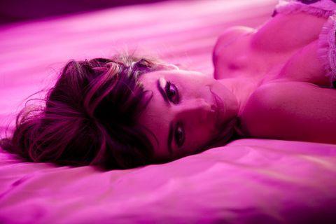 Lip, Purple, Violet, Magenta, Pink, Eyelash, Beauty, Photography, Linens, Close-up,