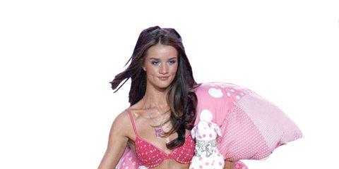 Pink, Brassiere, Costume, Magenta, Costume accessory, Abdomen, Waist, Fashion model, Navel, Trunk,