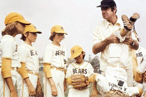 Sports uniform, Human body, Jersey, Baseball equipment, Cap, Personal protective equipment, Sports gear, College baseball, Baseball protective gear, Bat-and-ball games,