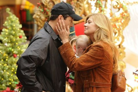 Ear, Cap, Interaction, Love, Holiday, Baseball cap, People in nature, Christmas decoration, Gesture, Blond,