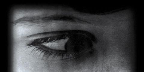 Skin, Eyelash, Eyebrow, Style, Iris, Organ, Monochrome photography, Monochrome, Black, Colorfulness,