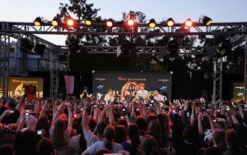 Crowd, Stage equipment, People, Entertainment, Event, Music, Stage, Performing arts, Audience, Music venue,