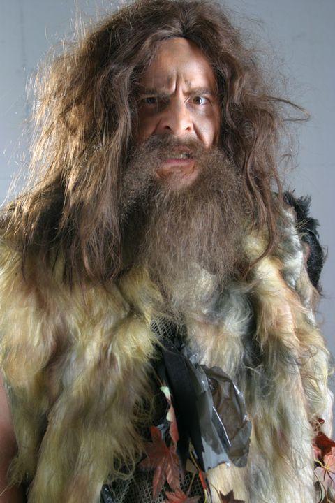 Facial hair, Hairstyle, Skin, Chin, Textile, Moustache, Beard, Jaw, Long hair, Natural material,