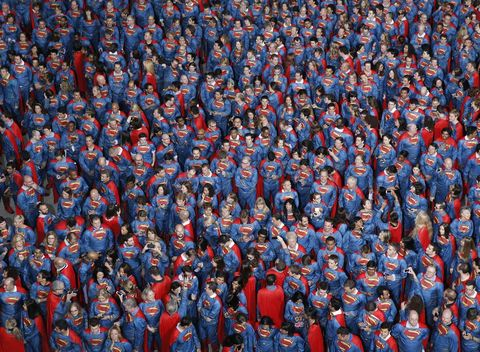 Red, Carmine, Crowd, Electric blue, Fan, Superhero, Cobalt blue, Fictional character, Toy, Hero,