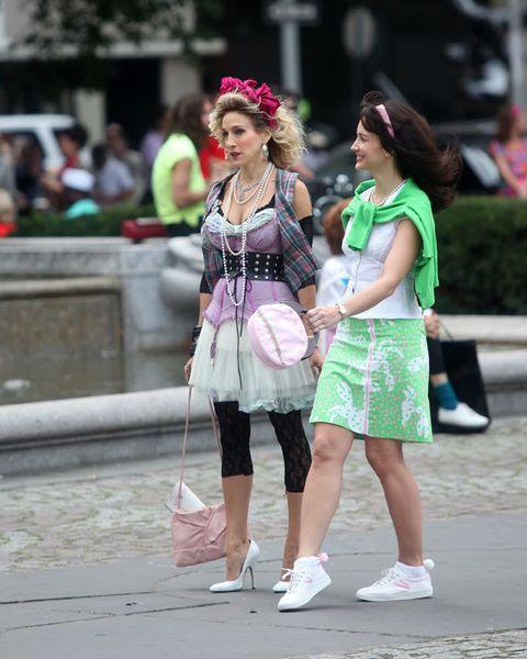 Footwear, Bag, Street, Pink, Fashion accessory, Style, Street fashion, Luggage and bags, Fashion, Snapshot,