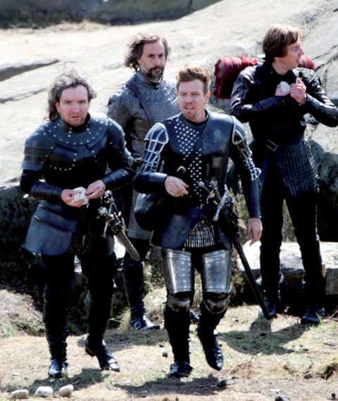 Face, Mammal, History, Camera, Viking, Armour, Active pants, Boot, Tights, Leggings,