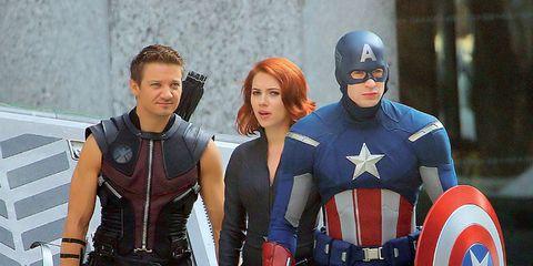 Fictional character, Captain america, Superhero, Costume, Shield, Carmine, Hero, Latex, Boot, Avengers,